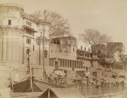 [View of ghats at] Benares.